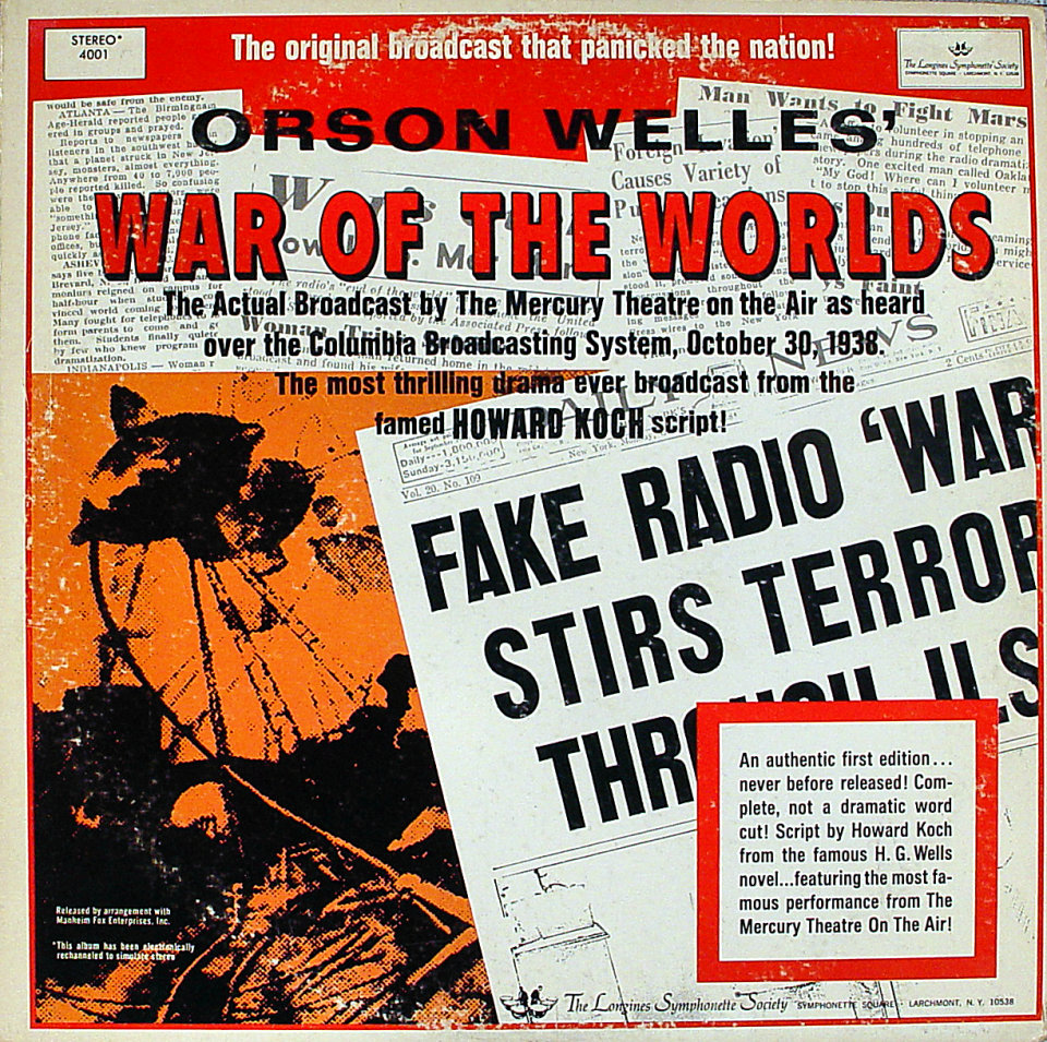 """War Of The Worlds Vinyl 12"""" (Used)"""