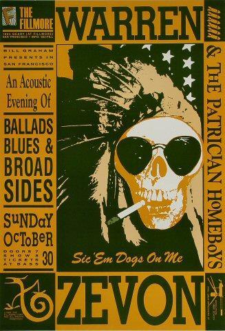 Warren Zevon & The Patrician Homeboys Poster