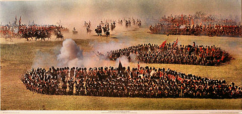 """Waterloo"": French Cavalry Attack British Squares Poster"