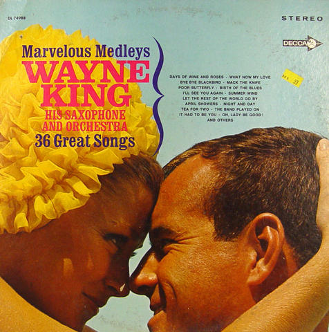 "Wayne King His Saxophone And Orchestra Vinyl 12"" (Used)"