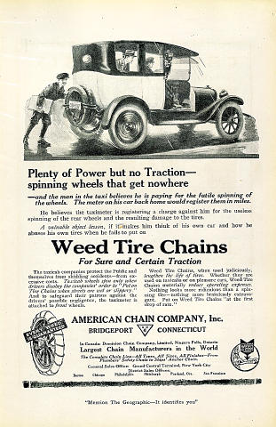 Weed Tire Chains Vintage Ad