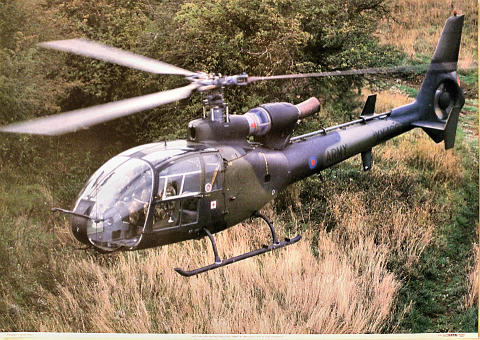 Westland/Aerospatiale Gazelle AH1 XX409 Poster