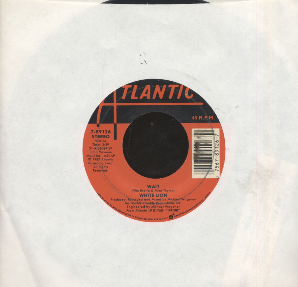"White Lion Vinyl 7"" (Used)"