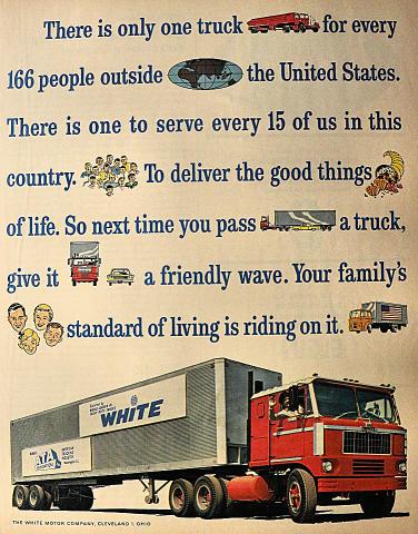 White Motor Company: Trucks Vintage Ad