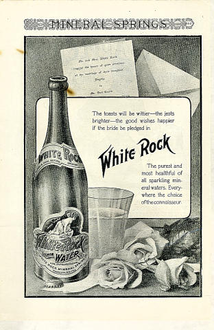 White Rock Lithia Water Vintage Ad