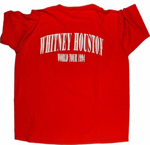 Whitney Houston Men's Vintage T-Shirt reverse side