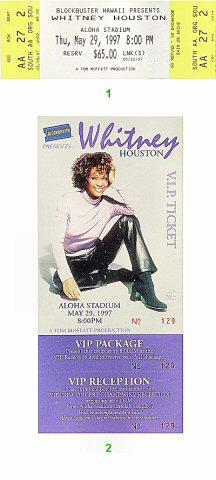 Whitney Houston Vintage Ticket