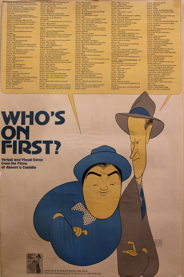 Who's on First?: Visual and Verbal Gems from the Films of Abbott & Costello Poster