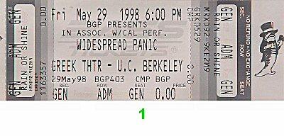 Widespread Panic Vintage Ticket