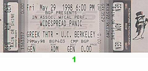 Widespread Panic Vintage Ticket