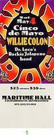 Willie Colon Vintage Ticket