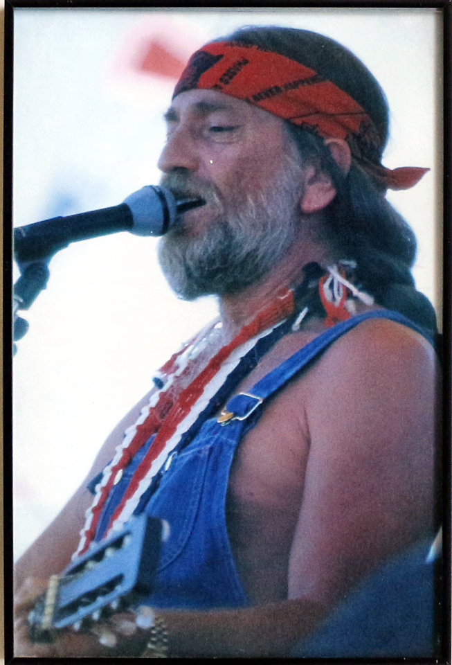 Willie Nelson Framed Vintage Print