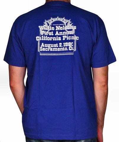 Willie Nelson Men's T-Shirt reverse side
