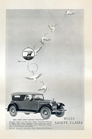 Wills Sainte Claire: Gray Goose Traveler Vintage Ad