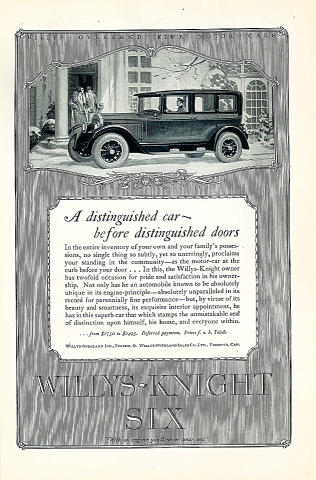 Willys-Knight Six Vintage Ad