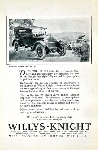 Willys-Knight Vintage Ad