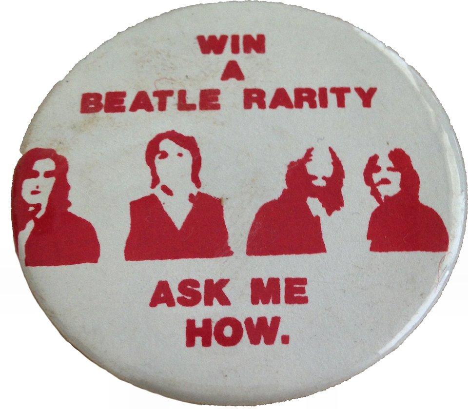 Win A Beatle Rarity Pin
