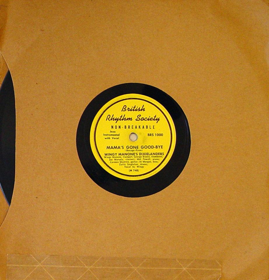 Wingy Manone's Dixielanders 78