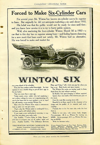 Winton Six Vintage Ad