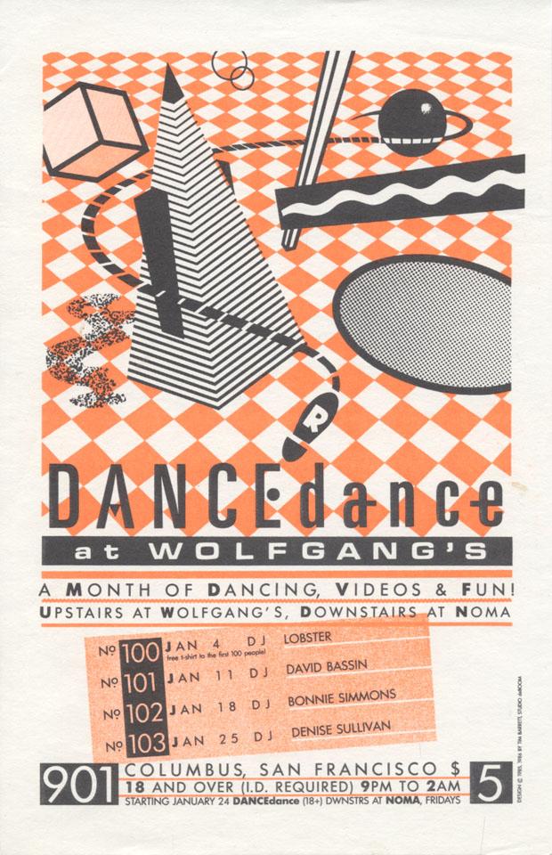 Wolfgang's Dance-Dance Handbill