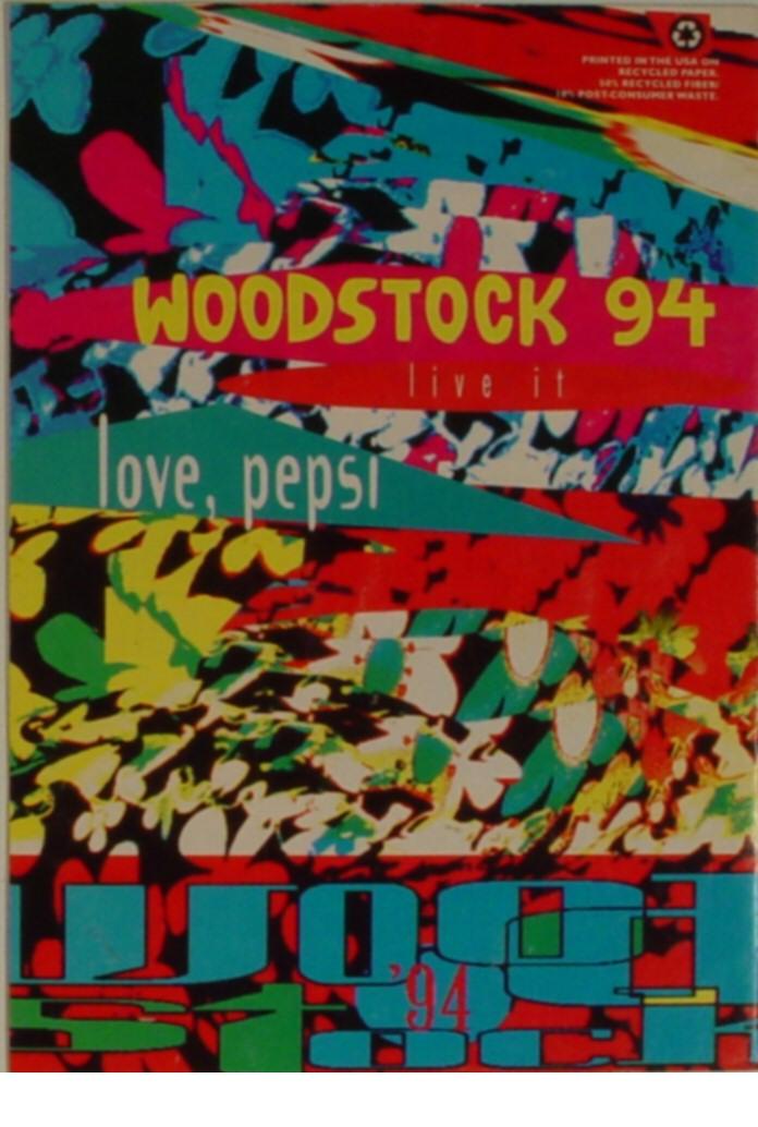 Woodstock '94 Program reverse side