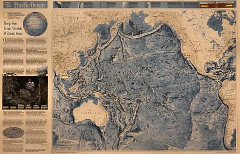 World Ocean Floor Maps: Pacific & Indian Oceans Poster