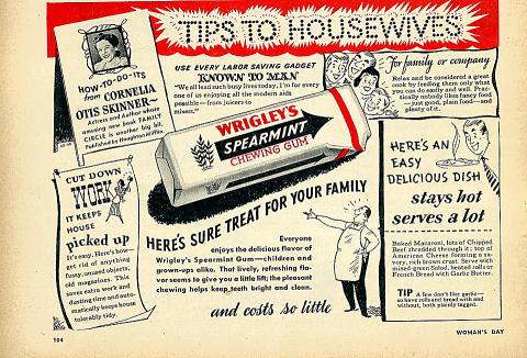 Wrigley's Spearmint Chewing Gum Vintage Ad