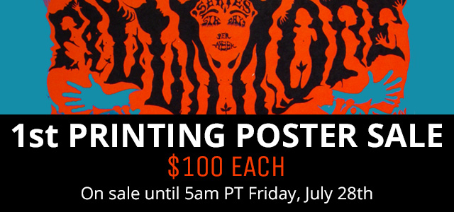 $100 1st Printing Poster Sale
