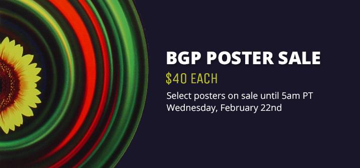 BGP Poster Sale