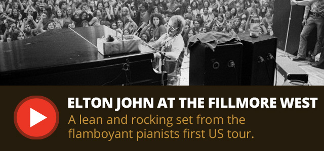 Elton John at The Fillmore West, 1970