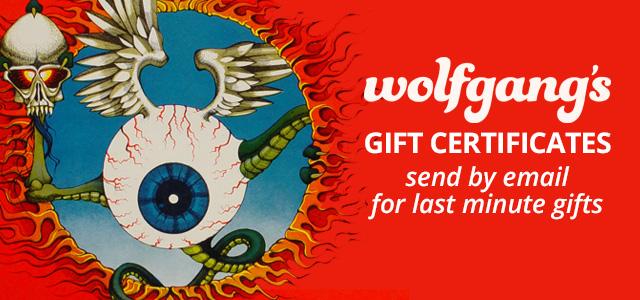 Wolfgang's Gift Certificates