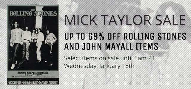 Mick Taylor Sale