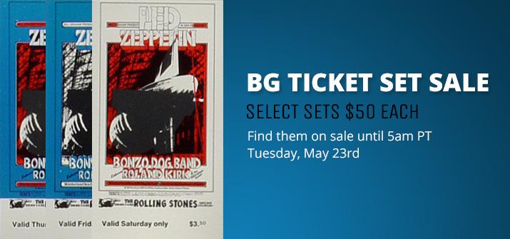 BG Ticket Set Sale