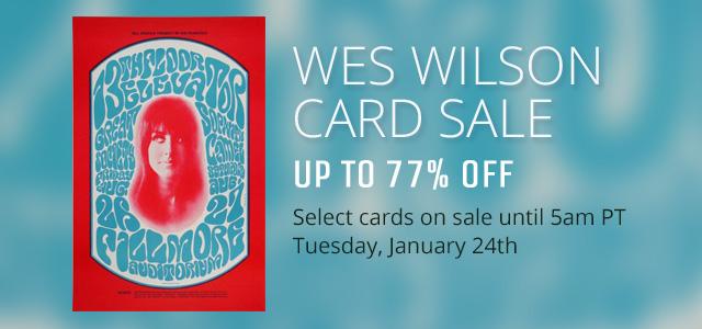 Wes Wilson Card Sale