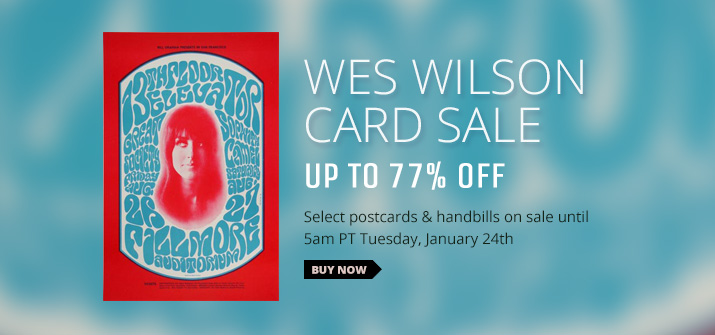 Wes Wilson Card Sale