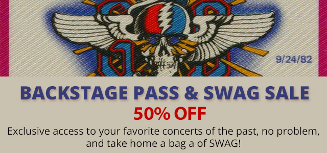 50% Off Backstage Passes & SWAG