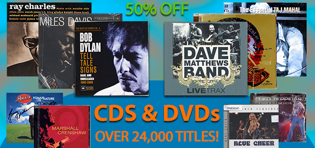 50% Off Our Huge Collection of CDs & DVDs