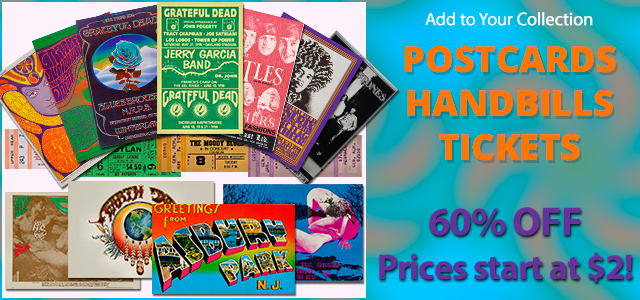 Our entire collection of Handbills, Postcards and Tickets 60% Off