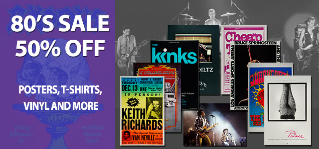 50% off The 80's All 80's posters, postcards handbills 50% off.