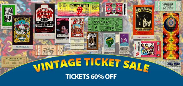 Vintage Tickets 60% Off