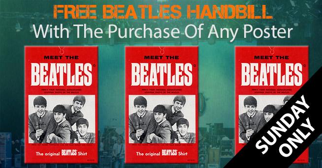 Free Beatles Handbill