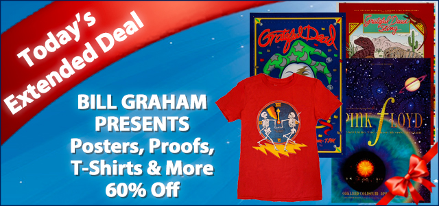 Bill Graham Presents Posters, Proofs, T-Shirts & More 60% Off
