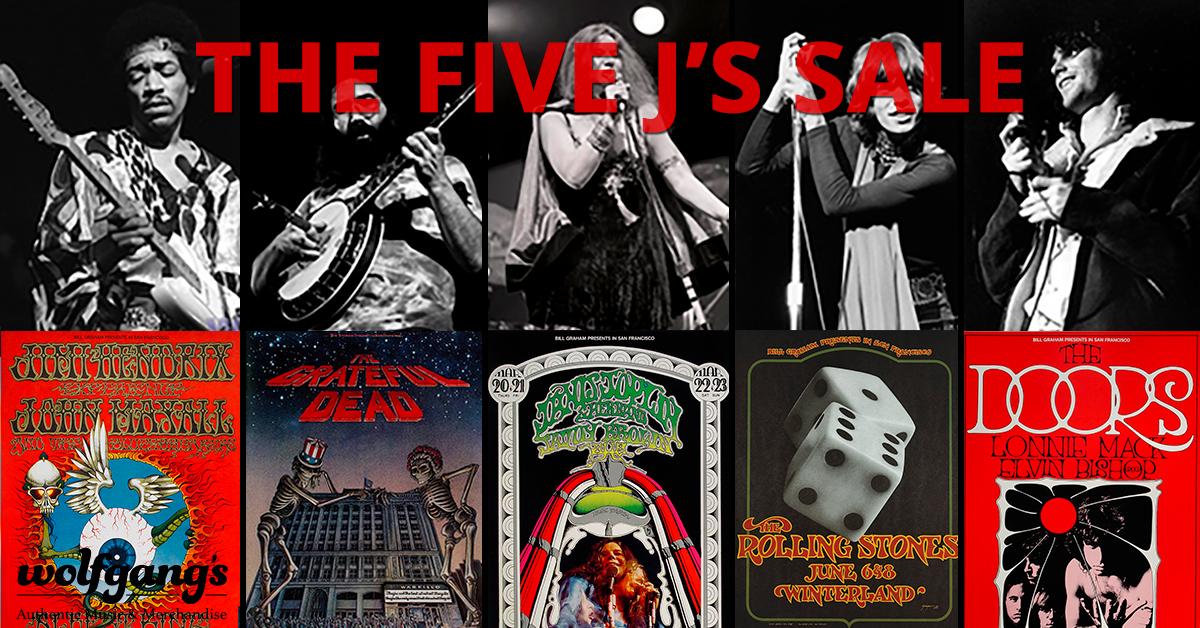 Jimi, Janis, Jagger, Jerry, Jim 35% Off Jimi, Janis, Jagger, Jerry, Jim 35% Off