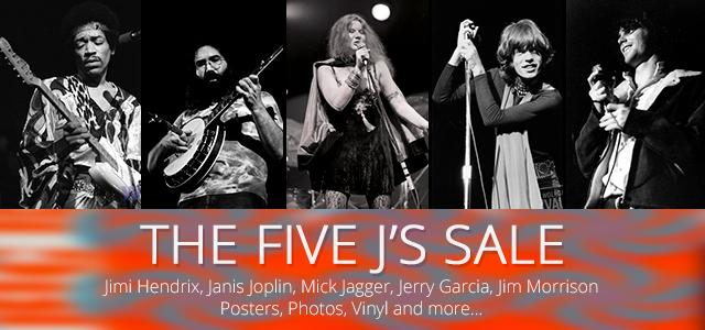 Jimi, Janis, Jagger, Jerry, Jim 35% Off