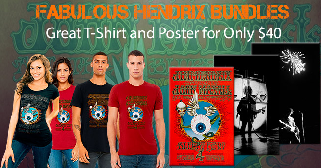 Hendrix T-Shirt Poster Gift Bundle Hendrix T-Shirt Poster Gift Bundle