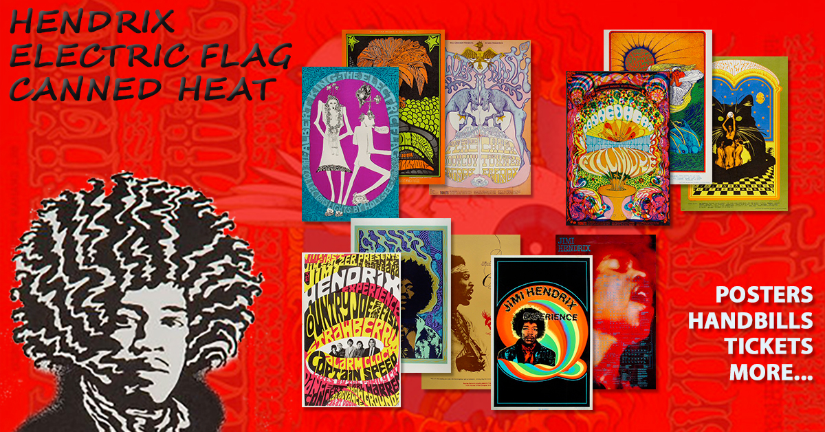 Hendrix, Canned Heat, Electric Flag 40% Off Hendrix, Canned Heat, Electric Flag 40% Off