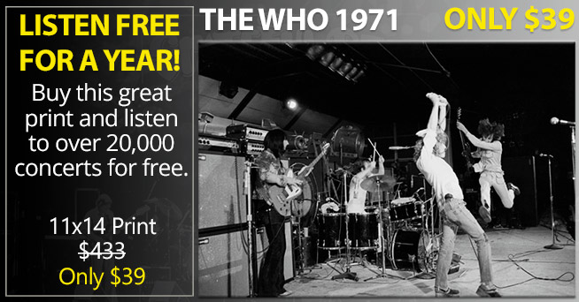 Incredible The Who Print Only $39
