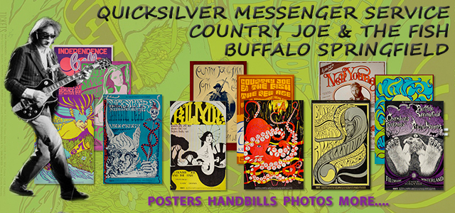 Quicksilver Messenger Service, Country Joe & the Fish, Buffalo Springfield 40% Off Quicksilver Messenger Service, Country Joe & the Fish, Buffalo Springfield 40% Off