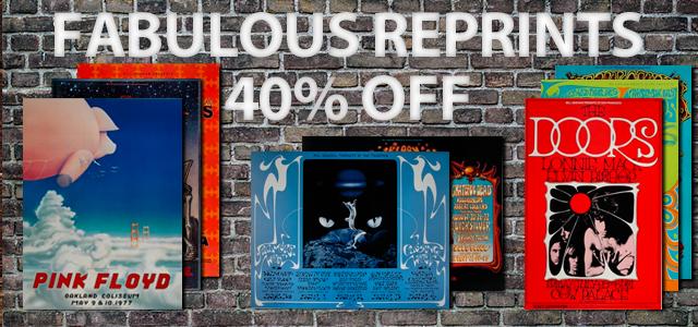 Poster Reprints 40% Off