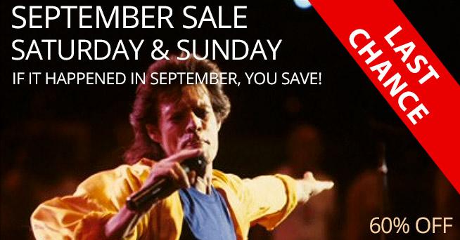 September Sale - 60% Off